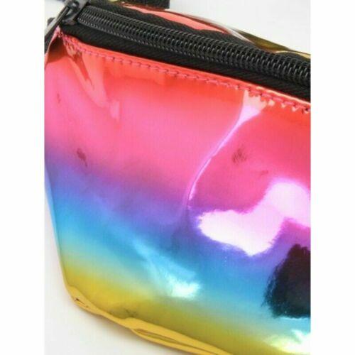 Children/'s taille Rainbow PVC Tissu Bum Sac /& Sangle Réglable Argent Portefeuille.