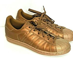 RARE ADIDAS WOMEN'S US 6.5 SUPERSTAR BRONZE COPPER SNEAKERS SHOES ...