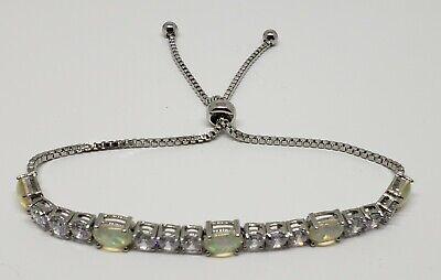 Fiery Opal Adjustable Tennis Bracelet Made With Swarovski Elements by Nina  &... | eBay