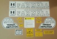 Farmall Super Mta Complete Decal Set.