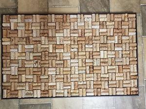 Super Pinnwand aus gebrauchten Korken Weinkorken Holzrahmen Kork IA73