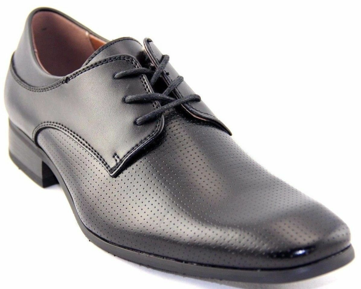 NXT Oxfords Men's Dress Oxfords NXT Black Leather Shoes Style#N21030 6a58a8