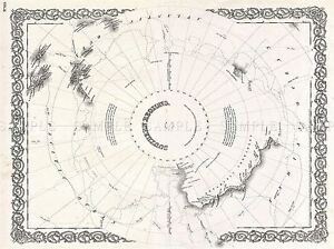 GEOGRAPHY-MAP-ILLUSTRATED-ANTIQUE-ANTARCTICA-COLTON-POSTER-ART-PRINT-BB4263A