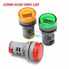 22mm Ac60 500v Led Voltmeter Voltage Meter Indicator Pilot Light New Diy 3 Color