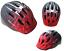 Ammaco Spider Bike Bicycle Skate Scooter Kids Childs Helmet Red Black 48-52cm