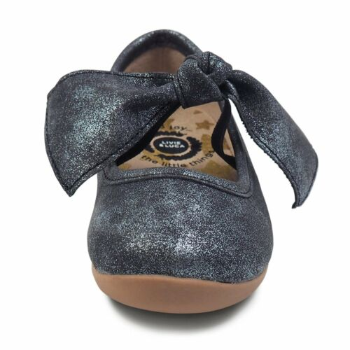 NEW Livie /& Luca ballet flat HALLEY Black Luster  toddler size 6-13 /& 1Y-3Y