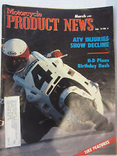 Motorcycle Product News Magazine March 1988 Special Tire section ATV injuries