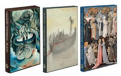 DANTE'S ~ DIVINE COMEDY 3 VOL SET ~ INFERNO PURGATORIO PARADISO ~ FOLIO SOCIETY