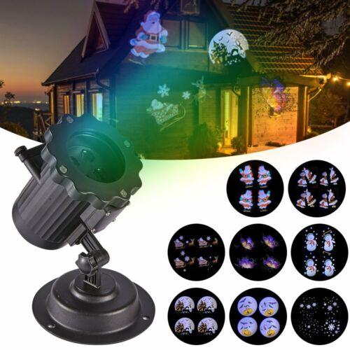 8 Muster LED Projektor Laser Lichteffekt Strahler Außenbeleuchtung Innen außen