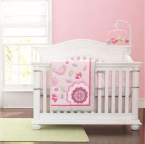 Pink Garden Nursery Bedding Set