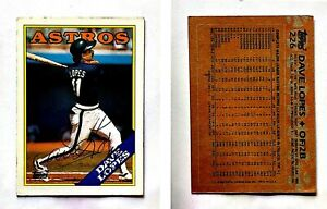 Dave-Lopes-Signed-1988-Topps-226-Card-Houston-Astros-Auto-Autograph