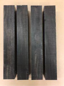 Schwarzes-Ebenholz-Ebony-Drechselholz-Tonholz-Tonewood-400-x-60-x-60mm