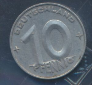 DDR-Jaegernr-1507-1952-E-vorzueglich-Aluminium-1952-10-Pfennig-8267868