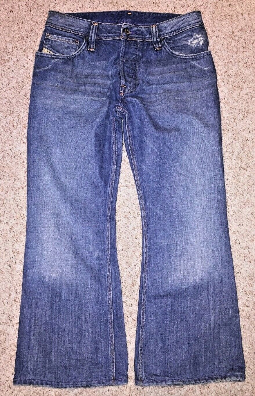 Diesel Industry Mens ZAF Boot Cut Button Fly Jeans Made in  Size 31 X 25.5