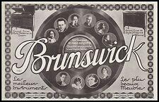 Publicité Gramophone Phonographe BRUNSWICK  photo vintage print  ad  1924 - 2h