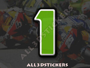 3D-Stickers-Resin-Domed-NUMBER-1-ONE-Color-Green-100-mm-4-inches-Adhesive