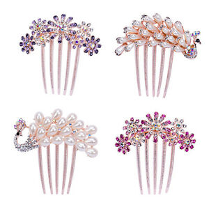 Fashion-Women-Rhinestone-Flower-Wedding-Bridal-Hair-Comb-Hairpin-Clip-Jewelry