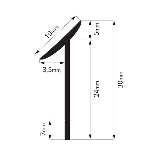 420cm Dichtungsprofil Arbeitsplatte Nischenprofil Dichtleiste PVC Fugen Leisten