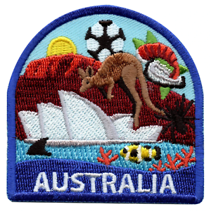 Australia Travel Embroidered Iron On Patch