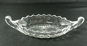 Vintage-Fostoria-American-Relish-Tray-Clear-Glass-9-034