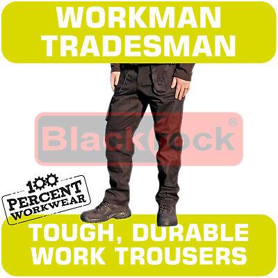 Gentile Tradesman Workman Qualità Resistente Cargo Combat Lavoro Pantaloni Ginocchio Tasche-mostra Il Titolo Originale