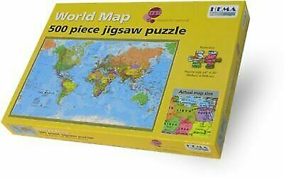 Hema Maps World Map 500 Pcs Jigsaw Puzzle Complete for sale online   eBay