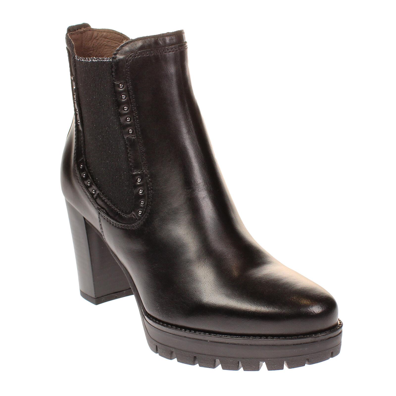 Nero Giardini A807070d Schwarz Stiefel Ankle Frau mit Plateau