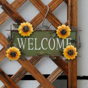 Vintage Hanging Sunflower Welcome Sign For Door Hanging Front Porch Welcome Sign Ebay