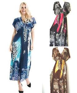 Details about Women PLUS Size Sundress Summer Dress 1X 2X 3X Long Maxi  Leopard Print