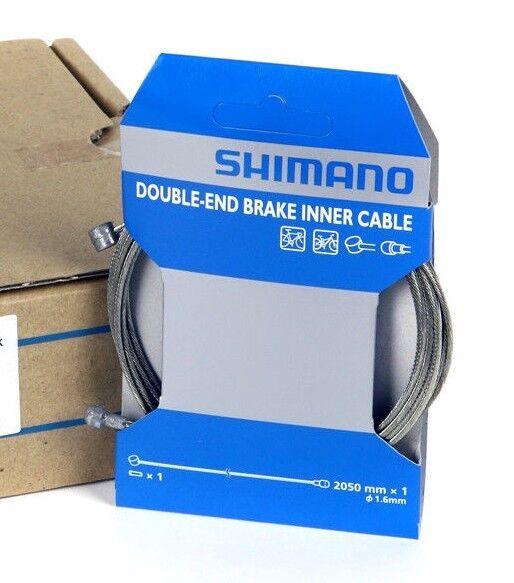 Shimano 2050mm x 1.6mm Double-Ended Bike Brake Inner Cable Steel MTB Road Hybrid