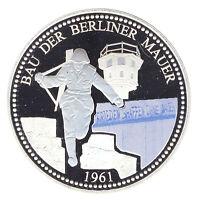 DDR - BAU der BERLINER MAUER 1961 - FARBE - ANSEHEN (8902/606)