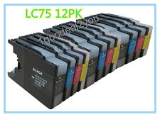 12 PK LC-75 XL Ink Cartridges for Brother MFC-J825DW MFC-J835W MFC-J430W Printer