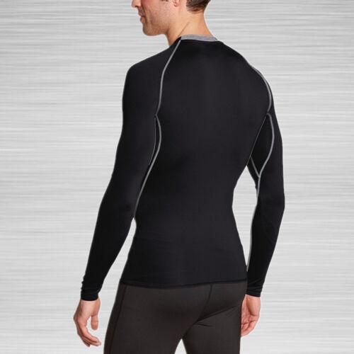 Men/'s Thermal Base Layers Tops Long Sleeve Shirt Gym Running Workout T Shirts G1