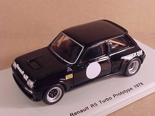 vendiendo bien en todo el mundo Spark 1 43 Resina 1978 Renault Renault Renault R5 Turbo Projootipo, LHD ,Negro, Elfo  S3857  promociones emocionantes