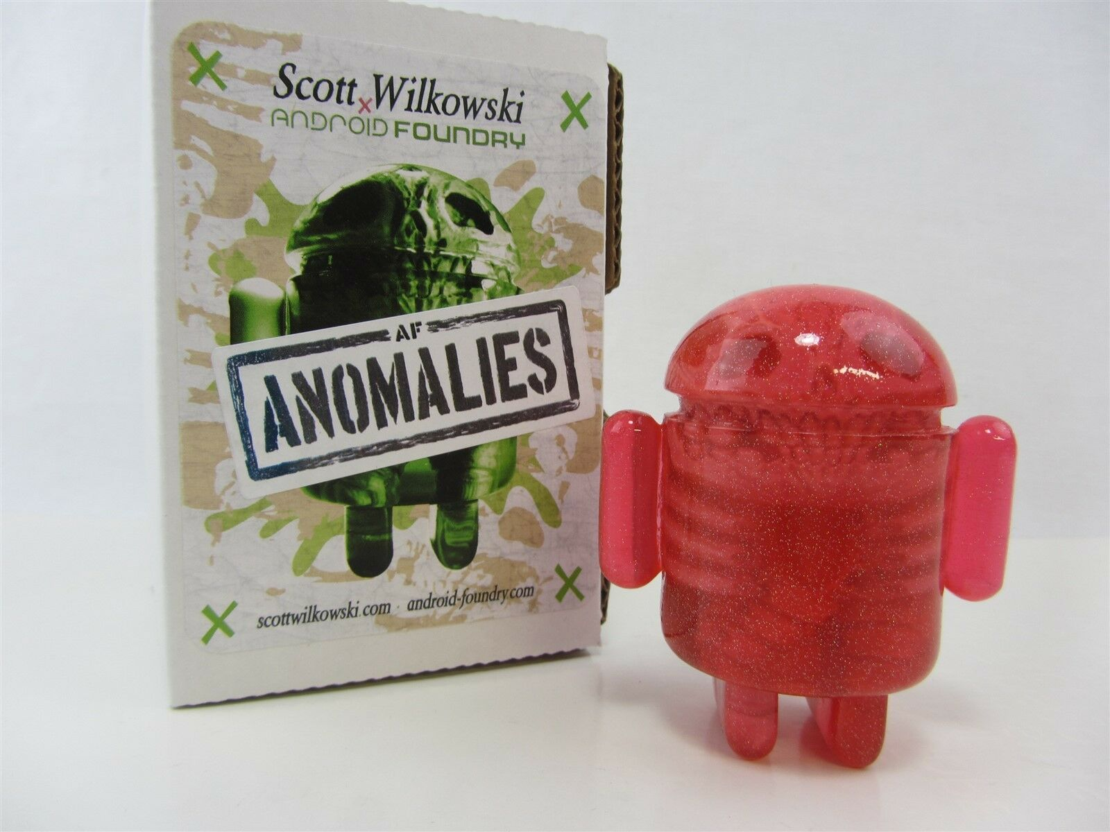 Scott Wilkowski INFECTED ANDROID ANOMALIES resin Pink w  colorful sparkles
