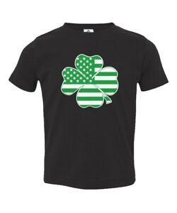 Clover Black American Flag Cotton Youth T Shirts Short Sleeve for Teenager Boys Girls