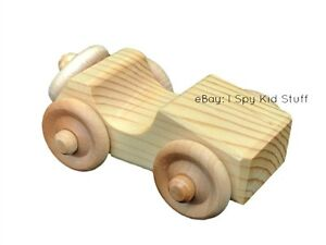 Handmade-Chunky-Wood-Toy-SPORTS-CAR-Wooden-Toy-Vehicles-Handcrafted-Toys