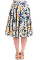 Hell Bunny Hope Floral Print Retro 1950s Circle Skirt- Hey Viv