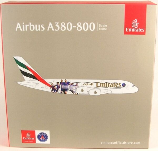 Paris st. germain emirates - a380 - 800 (reg.a6-eot)