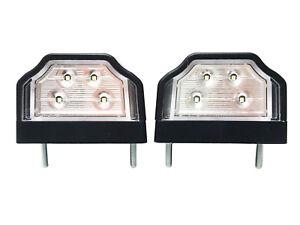 2x-LED-Kennzeichenleuchte-12V-24V-Nummerschildleuchte-Kennzeichenbeleuchtung-SET