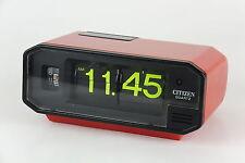 CITIZEN Battery Flip Clock RED