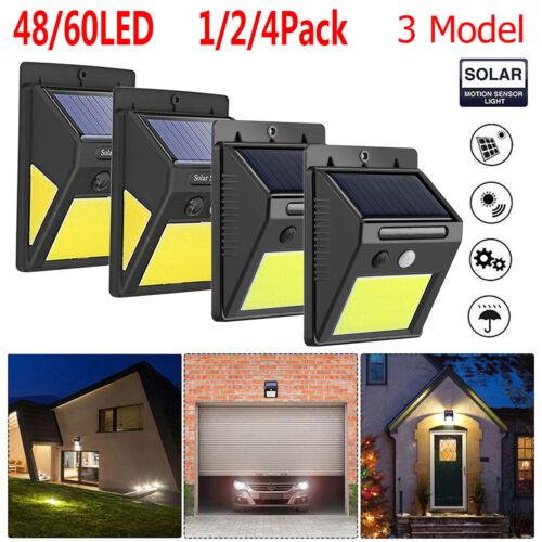 48//60LED Solar Wall Lamp Motion Sensor Outdoor Waterproof Garden Light Security