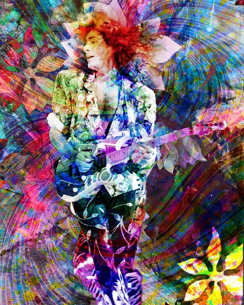 Steve Vai Art Print, Guitarist Canvas, Rock Poster
