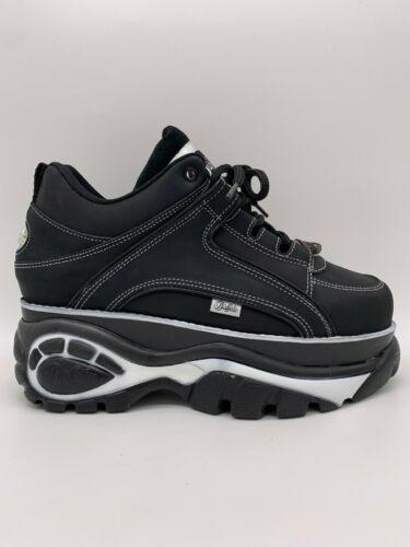 Buffalo London Classic Boots Shoes Plateau Schuhe 90er Schwarz Weiß 1339-14