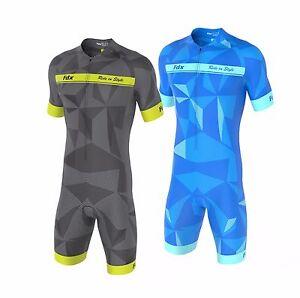 FDX-Homme-Classic-Cycling-Skinsuit-elegant-Rembourre-Une-Piece-Velo-Tri-Suit-Set