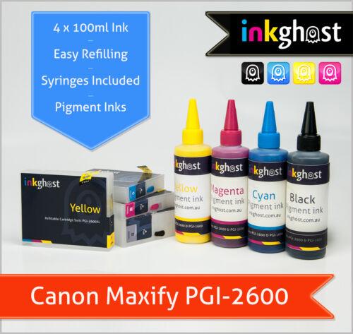 Canon Maxify compatible Refillable Cartridges PGI-2600 MB5060 MB5360 IB4060