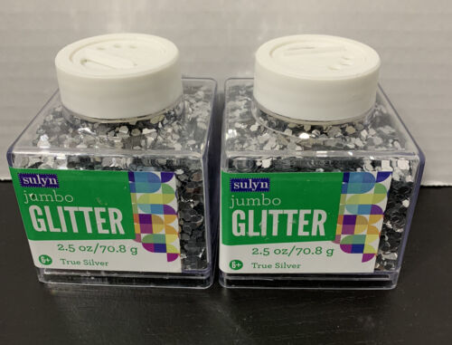 True Silver Lot of 2 2.5 oz Container New Sulyn Jumbo Glitter