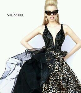 f0cf5fc00829 Sherri Hill Leopard Prom Dress, gala, pageant black, wedding, sweet ...