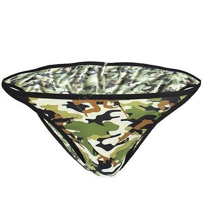 Sexy Mens Military G-string Camouflage Bikinis Briefs Thongs Underwear Swimwear