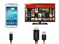 Mhl Micro Usb To Hdmi Hdtv Adapter 2m Long Cable For Samsung Galaxy Note 4